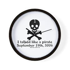 Talked Like a Pirate 06 Wall Clock
