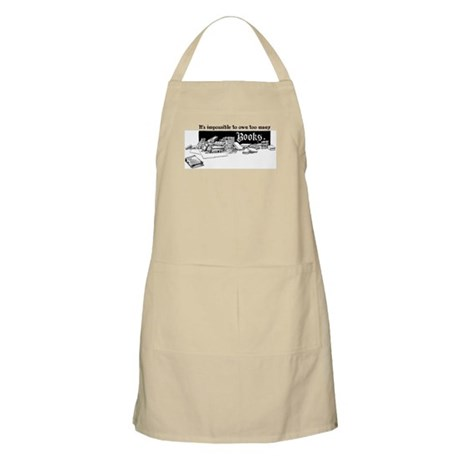 Impossible To Own Too Many Books BBQ Apron