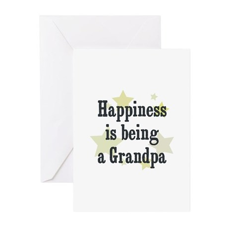 Happiness is being a Grandpa Greeting Cards (Pk of