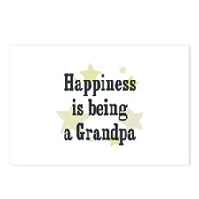 Happiness is being a Grandpa Postcards (Package of