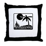 Left My Heart In Tortuga Throw Pillow