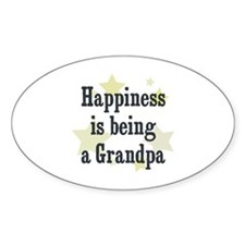Happiness is being a Grandpa Oval Decal