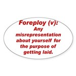 Foreploy Oval Sticker
