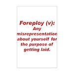 Foreploy Mini Poster Print