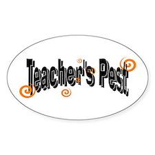 Teacher's pest Oval Decal