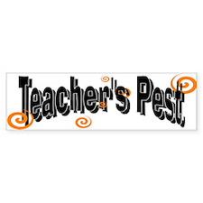 Teacher's pest Bumper Car Sticker