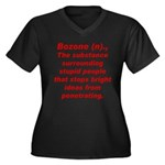 Bozone Women's Plus Size V-Neck Dark T-Shirt