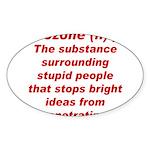 Bozone Oval Sticker