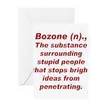 Bozone Greeting Card