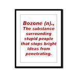 Bozone Framed Panel Print