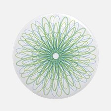 Green Spiral Ornament (Round)