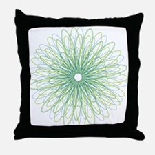 Green Spiral Throw Pillow