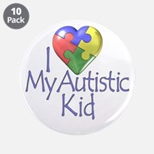 """My Autistic Kid 3.5"""" Button (10 pack)"""