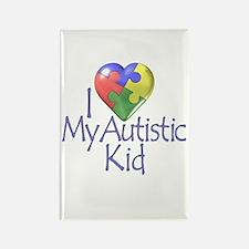 My Autistic Kid Rectangle Magnet