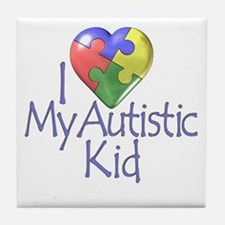 My Autistic Kid Tile Coaster