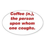 Coffee Oval Sticker