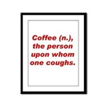 Coffee Framed Panel Print