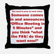 Prayer 2 Throw Pillow