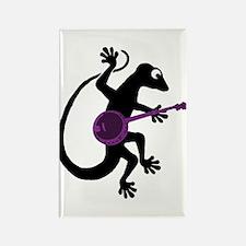 Gecko Banjo Rectangle Magnet