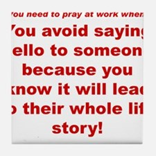 Prayer3 Tile Coaster