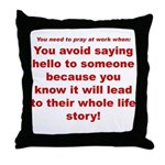 Prayer3 Throw Pillow