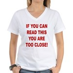 If You Can Read This Women's V-Neck T-Shirt