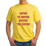 Aspire Inspire Expire Yellow T-Shirt