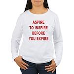 Aspire Inspire Expire Women's Long Sleeve T-Shirt
