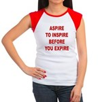 Aspire Inspire Expire Women's Cap Sleeve T-Shirt