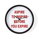 Aspire Inspire Expire Wall Clock