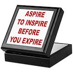 Aspire Inspire Expire Keepsake Box