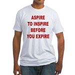 Aspire Inspire Expire Fitted T-Shirt