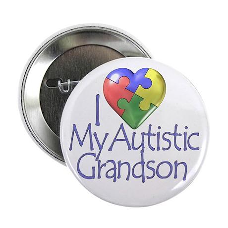 "My Autistic Grandson 2.25"" Button (100 pack)"