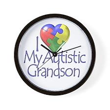 My Autistic Grandson Wall Clock