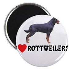 "I Love Rottweilers 2.25"" Magnet (10 pack)"