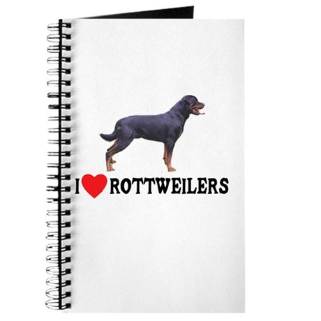 I Love Rottweilers Journal
