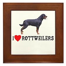 I Love Rottweilers Framed Tile