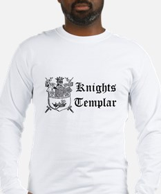 Knights Templar Shield Long Sleeve T-Shirt