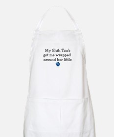 Wrapped Around Her Paw (Shih Tzu) BBQ Apron