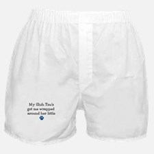 Wrapped Around Her Paw (Shih Tzu) Boxer Shorts