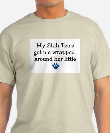 Wrapped Around Her Paw (Shih Tzu) T-Shirt