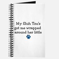 Wrapped Around Her Paw (Shih Tzu) Journal