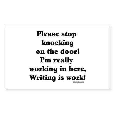 Working Writer Rectangle Sticker