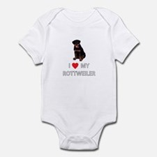 I Love My Rottweiler Infant Bodysuit