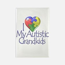 My Autistic Grandkids Rectangle Magnet (10 pack)
