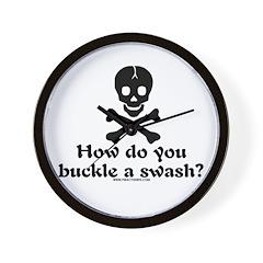 Buckle A Swash? Wall Clock