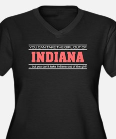 Girl out of indiana light Plus Size T-Shirt