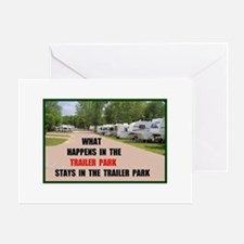 TRAILER PARK Greeting Card