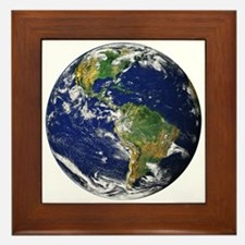Planet Earth Framed Tile