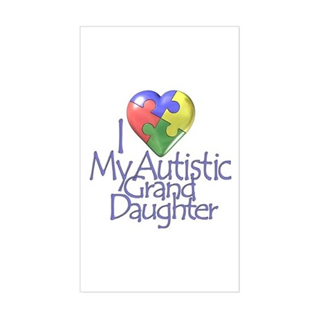 My Autistic GrandDaughter Rectangle Sticker